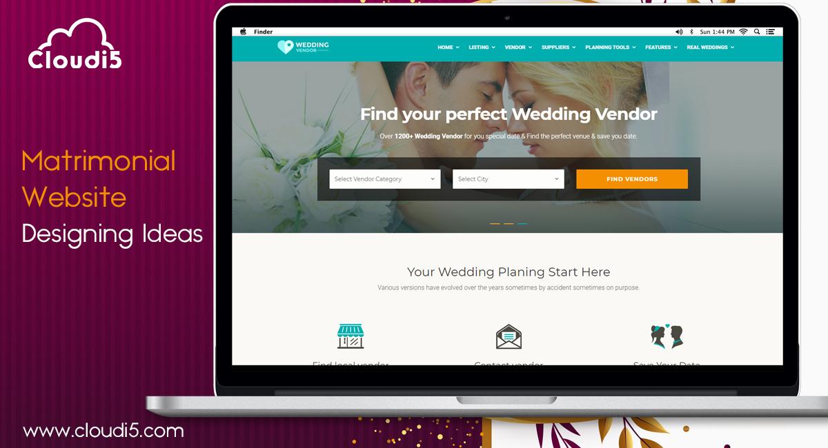 Matrimonial Website Designing Ideas